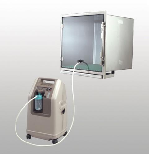 Concentrateur d'oxygene et boxe d'oxygenotherapie